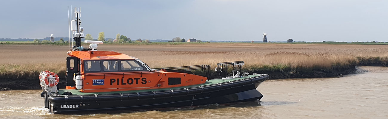 Hybrid Boat Leaving Norfolk