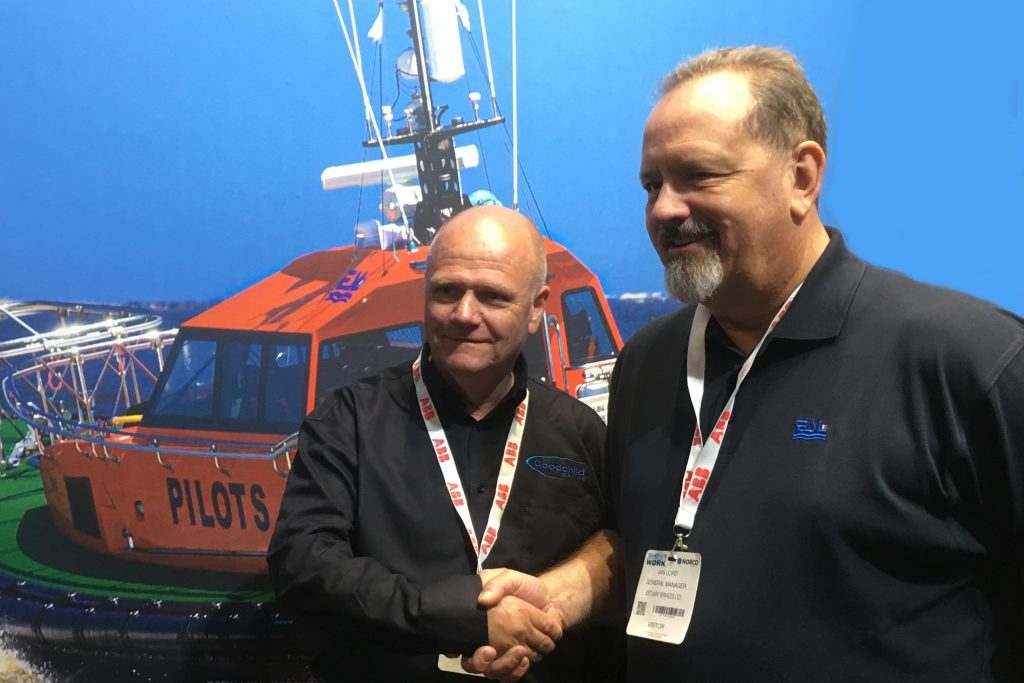 Alan Goodchild, Managing Director of Goodchild Marine, with Ian Lord, General Manager of Estuary Services Limited.